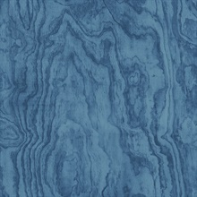Bentham Blue Plywood Wallpaper