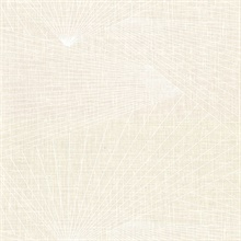 Berkeley Cream Geometric Fan Faux Linen Vinyl Wallpaper