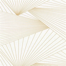 Berkeley Off-White Geometric Fan Faux Linen Vinyl Wallpaper