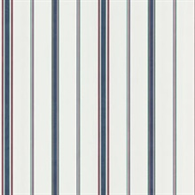 Billy Dark Blue Stripes Wallpaper