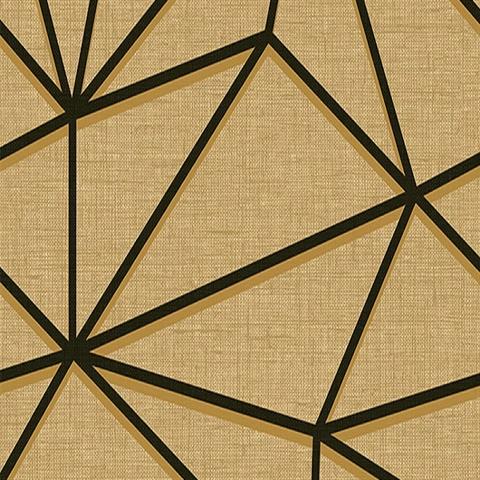 Gt20900 Black And Brown Quartz Lines Wallpaper Boulevard