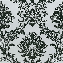 Black and Grey Brixham Raised Damask