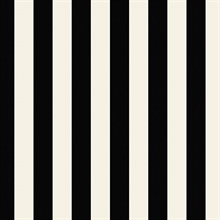 Black and White Vertical 1.25in Regency Stripe Prepasted Wallpaper