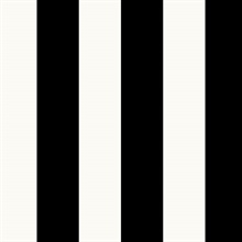 Black and White Vertical 2.5in Tent Stripe Prepasted Wallpaper