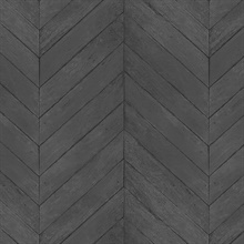 Black Faux Wood Chevron