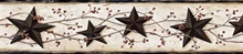 Black George Cream Tin Star Trail Border