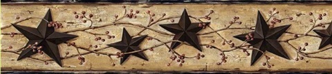 Black George Sand Tin Star Trail Border