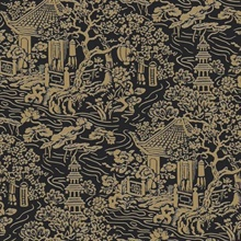 Black & Gold Chinoiserie Wallpaper