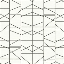 Black Modern Perspective Geometric Wallpaper