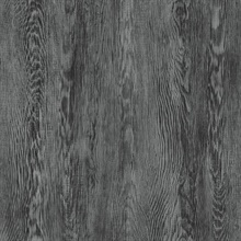 Black Quarter Sawn Faux Wood Wallpaper
