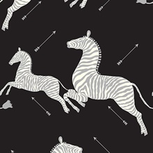 Black & Silver Zebra Wallpaper