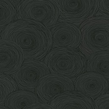 Black Starry Night Abstract Circles Wallpaper