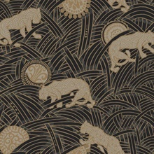Black Taupe Gold Tibetan Tigers Wallpaper