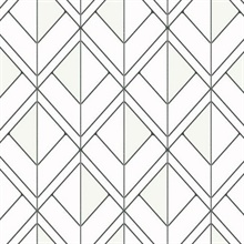 Black & White Diamond Shadow Geometric Wallpaper
