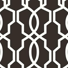 Black & White Hourglass Trellis Geometric Wallpaper