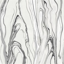 Black & White Liquid Marble Wallpaper