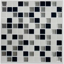 Black & White Mosaic StickTILES™ - 4 Pack