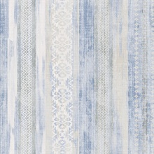 Blair Blue Ikat Stripe