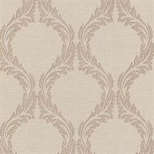 Blake Beige Ogee Wallpaper