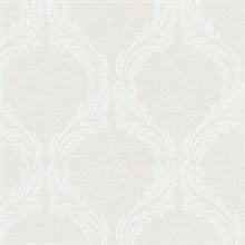 Blake Light Grey Ogee Wallpaper
