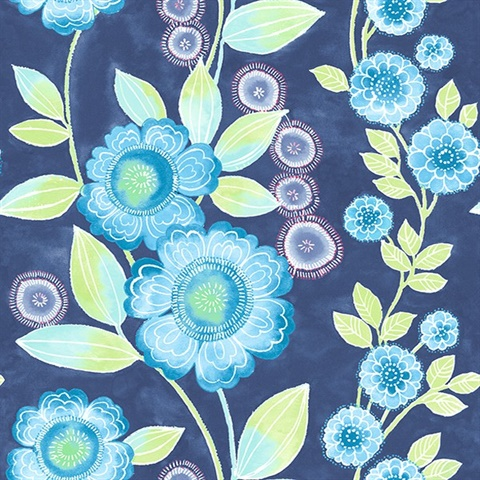 Bloom Blue Floral