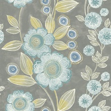 Bloom Grey Floral