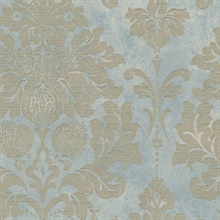 Blue Axbridge Damask