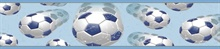Blue Beckham Blue Soccer Ball Motion Border
