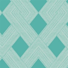 Blue Beveled Edge Geometric Wallpaper