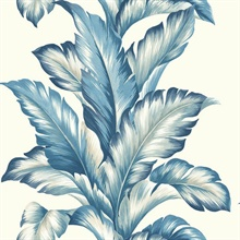 Blue Commercial Big Leaf Wallpaper