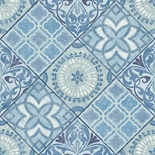 Blue Commercial Tile Wallpaper