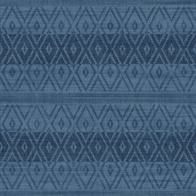 Blue Commercial Tribal Stripe Wallpaper