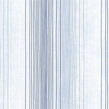 Blue, Denim and Soft Blue Random Stripe Prepasted Wallpaper