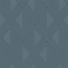 Blue Diamond Shadow Geometric Wallpaper