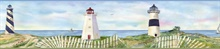 Blue Eugene Light Blue Coastal Lighthouse Portrait Border