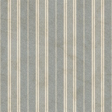 Blue Farmhouse Stripe Wallpaper