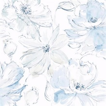 Blue Floral Dreams Wallpaper