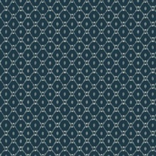 Blue Fretwork Wallpaper