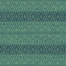 Blue & Green Commercial Tribal Stripe Wallpaper