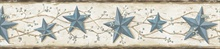 Blue June Blue Heritage Tin Star Border