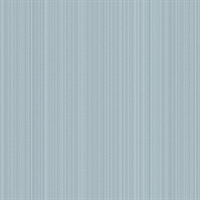 Blue Linen Strie Wallpaper
