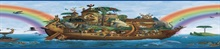 Blue Majesty Blue Noah'S Ark Portrait Border