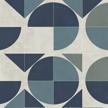 Blue Radius Geometric Wallpaper