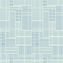 Blue Remodel Geometric Wallpaper