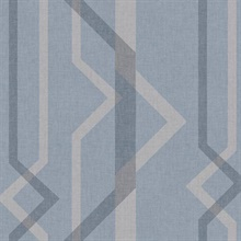 Blue Shape Shifter Geometric Wallpaper