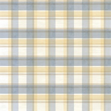 Blue Sunday Plaid Wallpaper