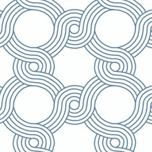 Blue The Twist Geometric Wallpaper