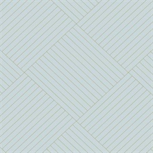 Blue Twisted Tailor Geometric Wallpaper