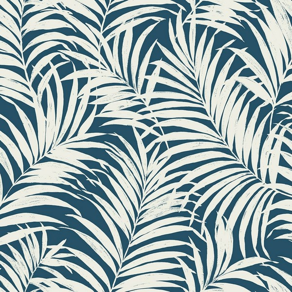 Blue White Commercial Tropical Palm Leaves Wallpaper Blue Tropical Palm Leaves 54 Wallcovering Support us by sharing the content, upvoting wallpapers on the page or sending your own. blue white commercial tropical palm leaves wallpaper