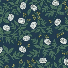 Blue & White Large Scale Floral Peonies Rifle Paper Wallpaper
